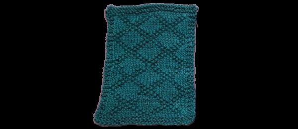 Diamond Pattern Dish Cloth – Dark Green