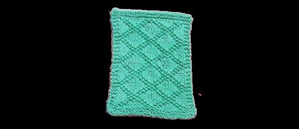 Diamond Pattern Dish Cloth – Light Green