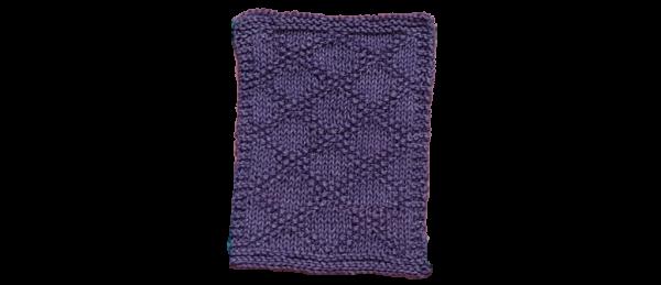 Diamond Pattern Dish Cloth – Purple