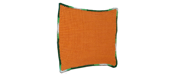 Tunisian Crochet Dishcloth (Orange)