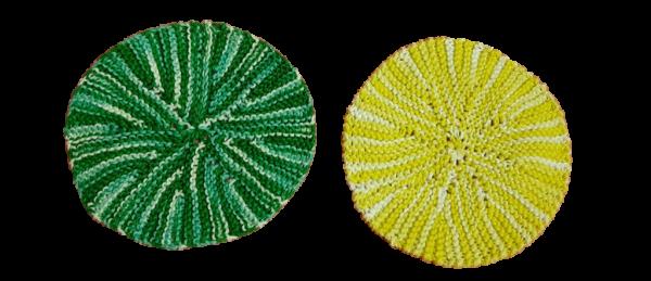 Kitchen Crocheted Dish Cloths – Round (Green)