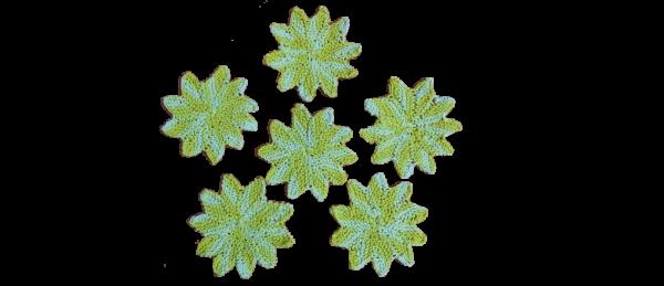 Kitchen Crocheted Dish Cloths – Star (Yellow)