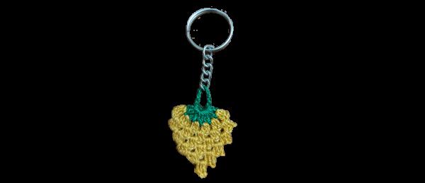 Crochet Key Chain – Yellow