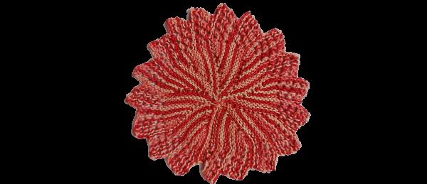 Kitchen Crocheted Dish Cloths – Round (Variegated Pink)